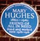 the blue plaque that