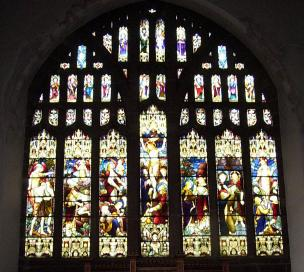 the east window, above the alter