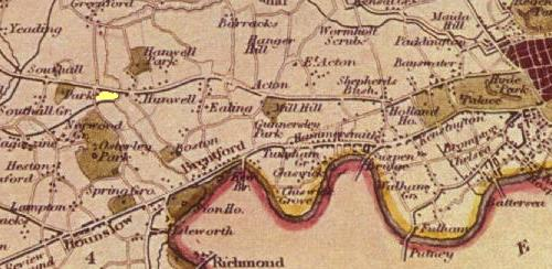 Hanwell in Middlesex 1836