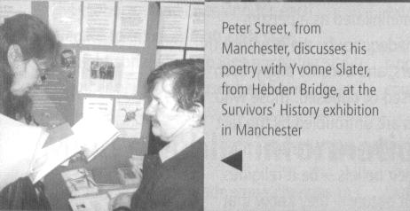 Peter Street reads to Yvonne Slater